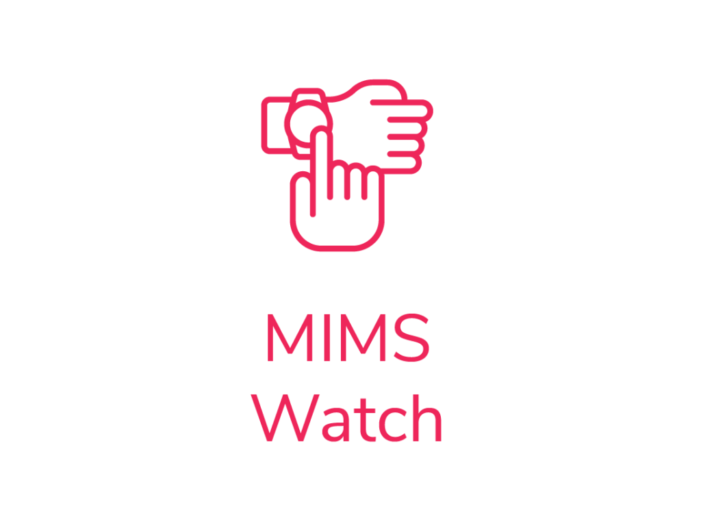 field Workforce management service work management module icon MIMS watch icon on hand with touch